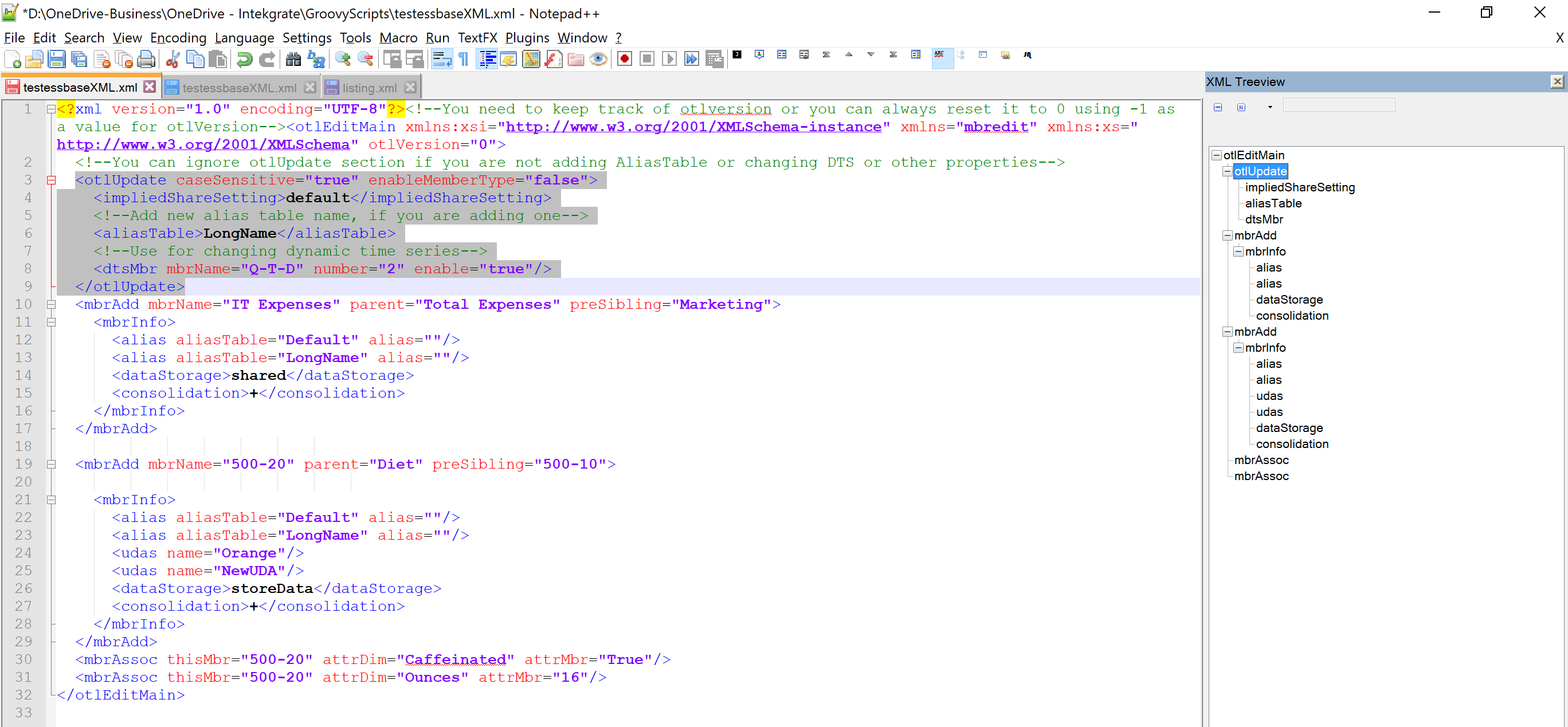XML Treeview ~ Oracle - Hyperion Labs